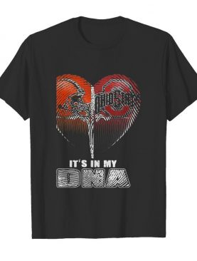 Cleveland browns and cleveland indians heart it's in my dna shirt