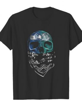 Skull seattle seahawks and seattle mariners shirt