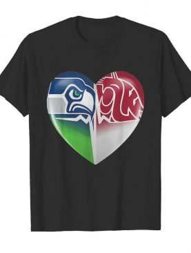 seattle seahawks and washington state cougars shirt