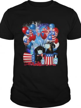 Dachshund mask happy American flag veteran Independence Day shirt