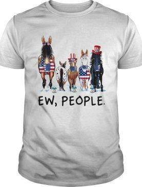 Horses soap ew people american flag independence day shirt