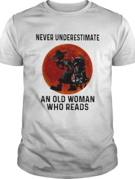Never Underestimate An Old Woman Who Reads Sunset shirt