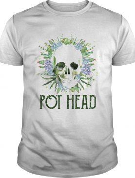 Skull cactus pot head shirt