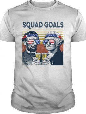 Squad Goal Benjamin Franklin And Abraham Lincoln Beer Vintage shirt