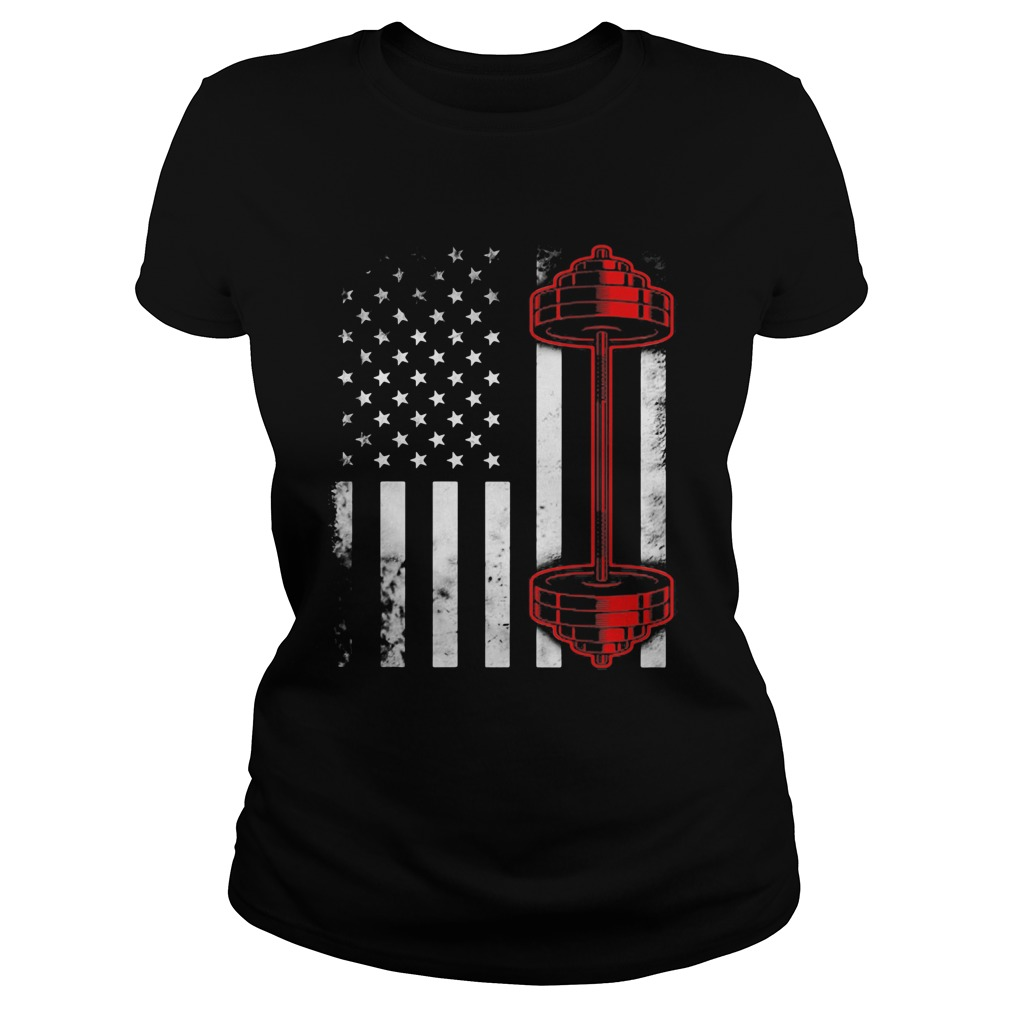 Weightlifting american flag america 4th of july independence day  Classic Ladies