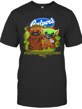 Baby Yoda And Groot Culver's Together We Can Eat Covid 19 T-Shirt
