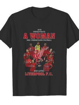 Never Underestimate A Woman Who Understands Football And Loves Liverpool Fc Signatures shirt
