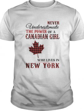 Never underestimate the power of a canadian girl who lives in new york shirt