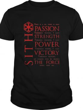 Star Wars SITH Quotes shirt