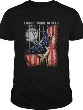 Correctional officer american flag happy independence day shirt