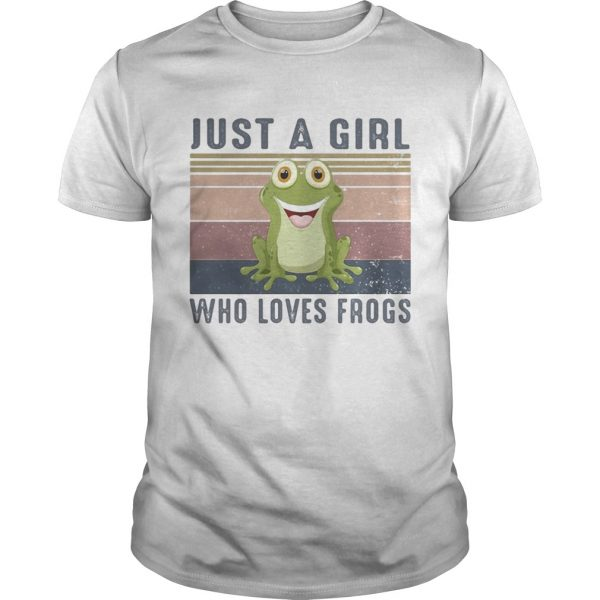 Just a girl who loves frogs vintage retro shirt