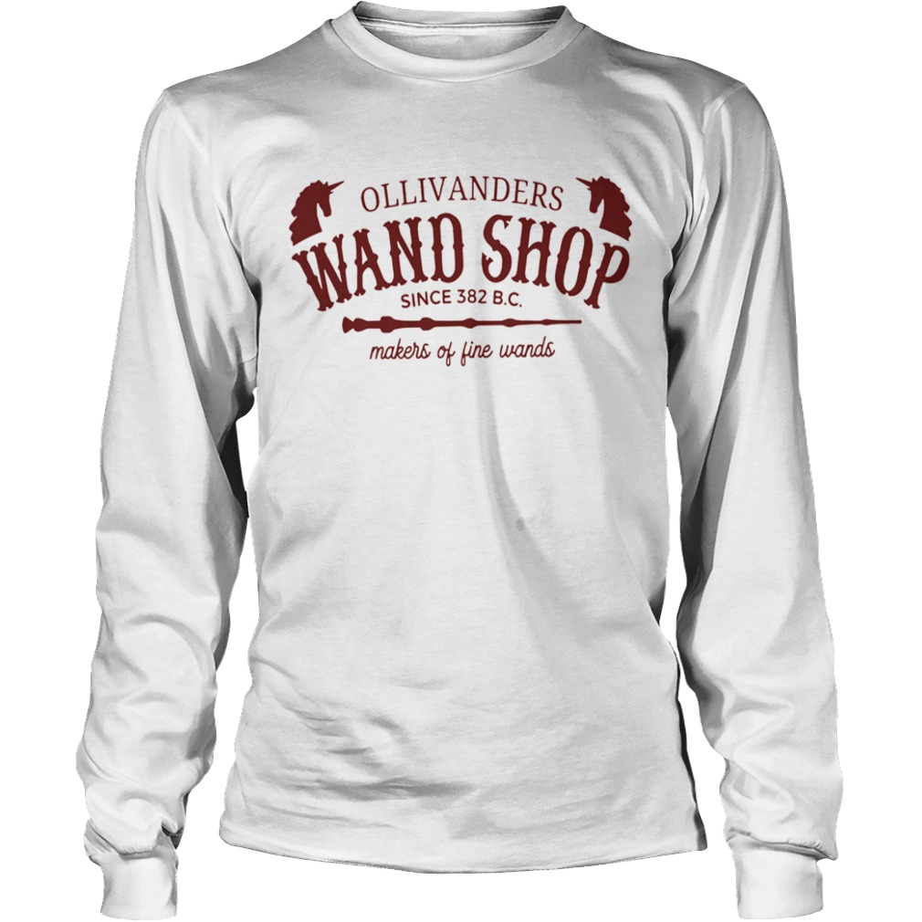 Ollivanders Wand Shop Sign 382 Bc Makers Of Fine Wands  Long Sleeve