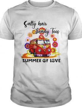 Salty Hair Sandy Toes Summer Of Love shirt