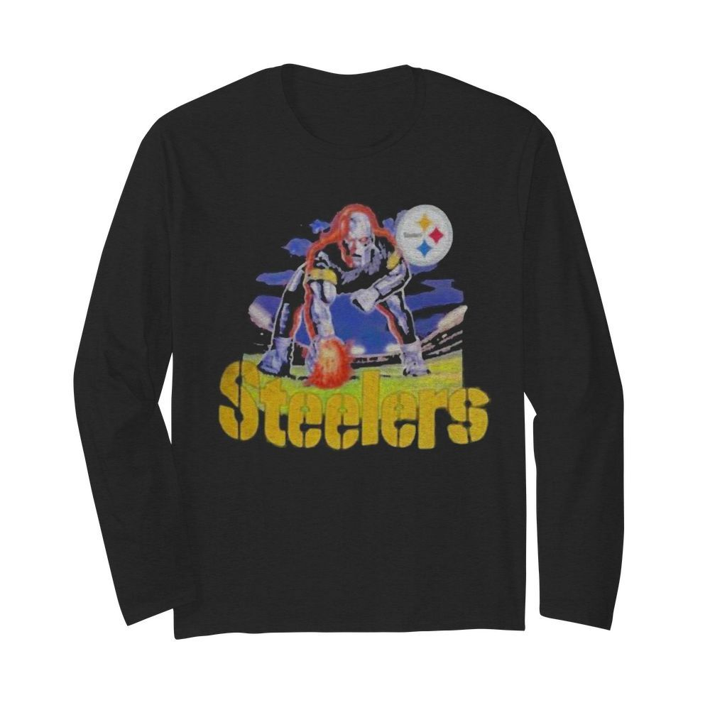 Skull pittsburgh steelers player  Long Sleeved T-shirt