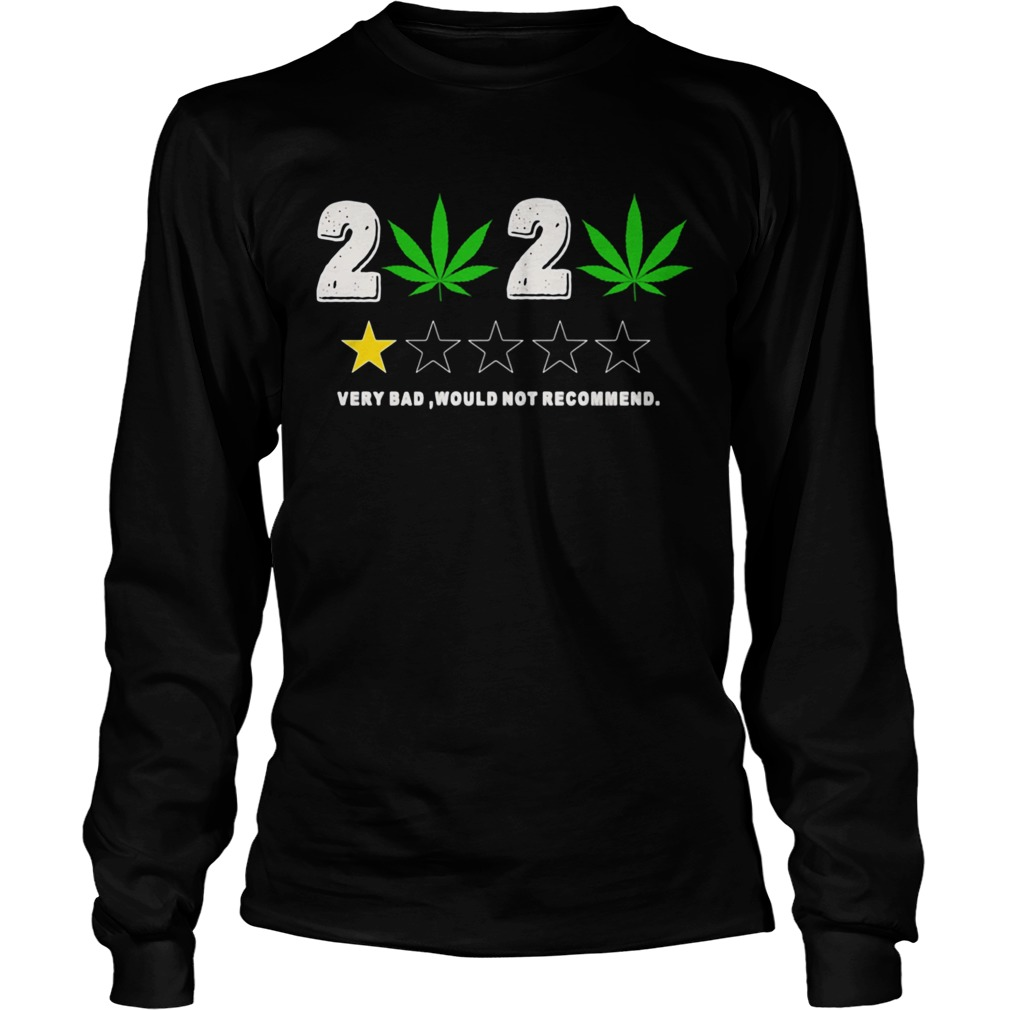 Weed 2020 Very Bad Would Not Recommend  Long Sleeve