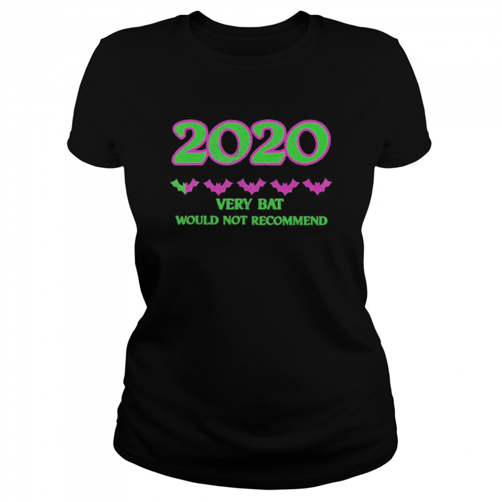 2020 One Star Rating Very Bat Would Not Recommend Halloween  Classic Women's T-shirt