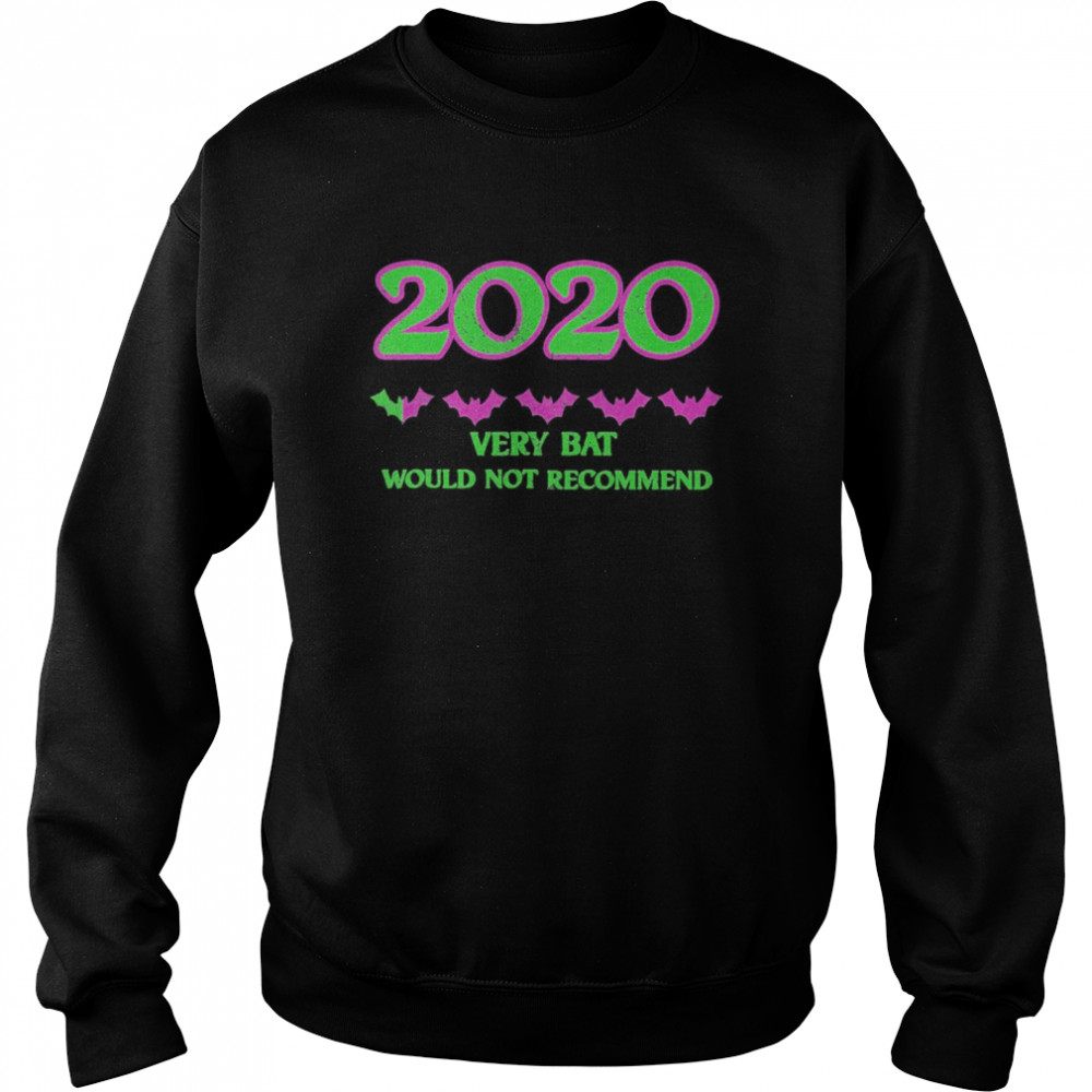 2020 One Star Rating Very Bat Would Not Recommend Halloween  Unisex Sweatshirt