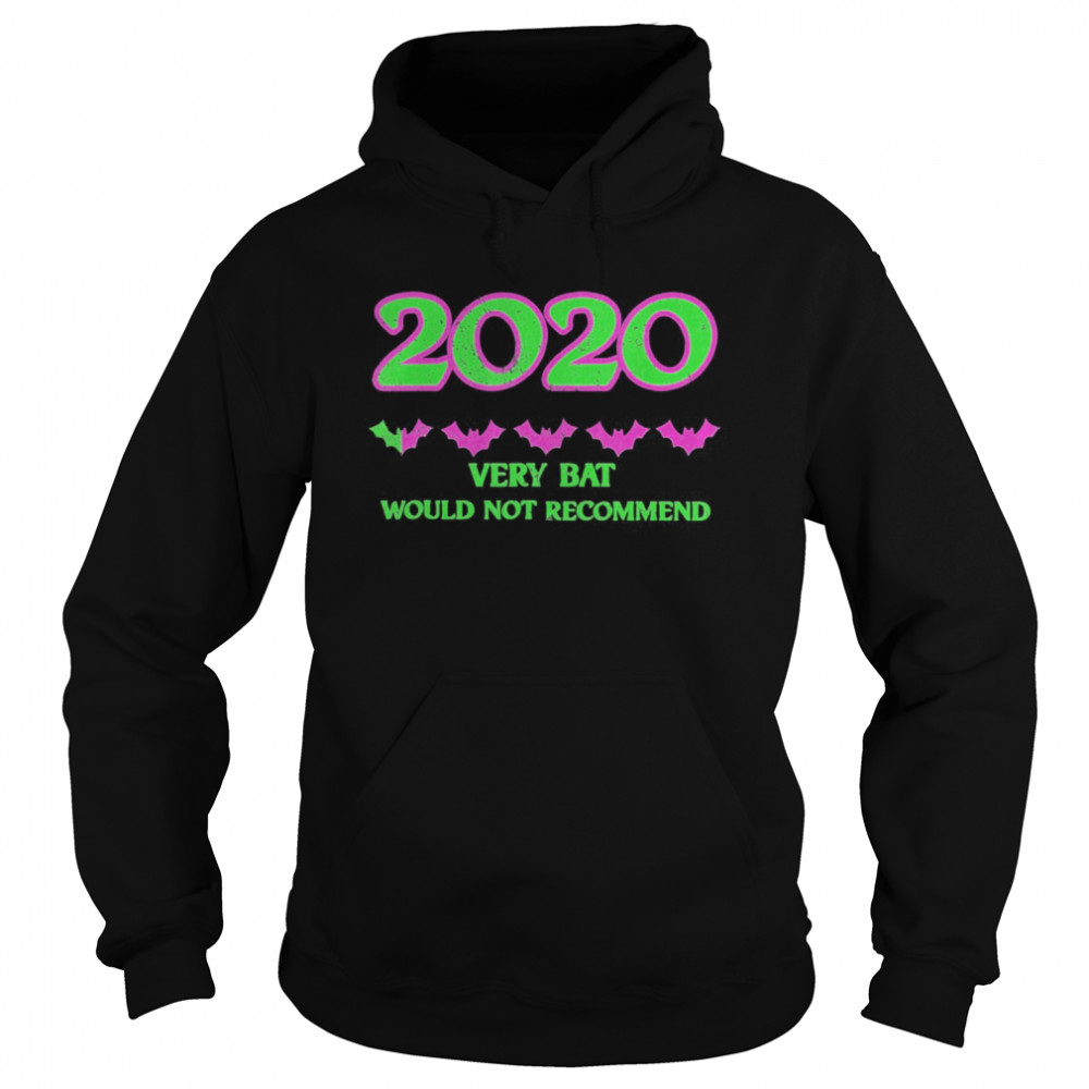 2020 One Star Rating Very Bat Would Not Recommend Halloween  Unisex Hoodie