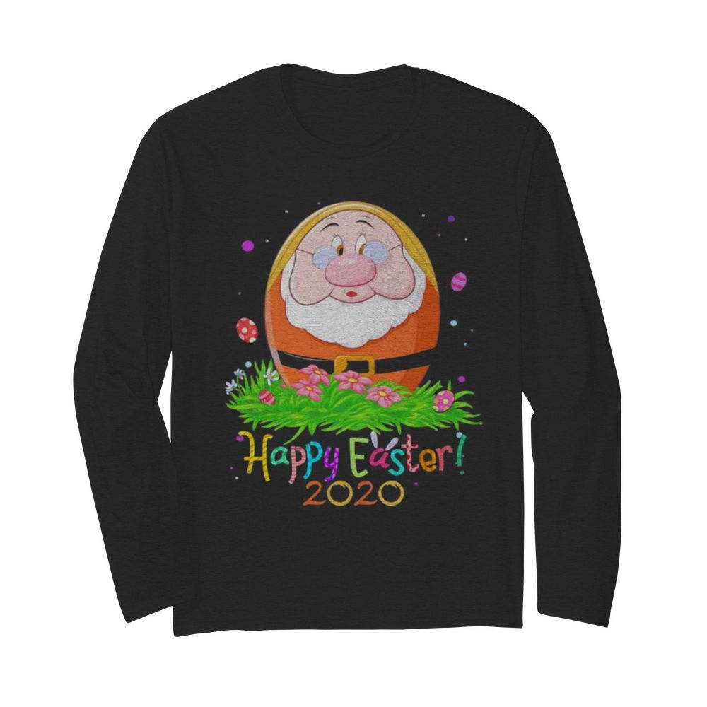 Dopey cry happy easter 2020 flowers  Long Sleeved T-shirt