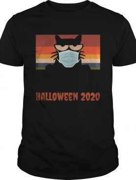 Halloween 2020 Funny Black Cat with Mask shirt
