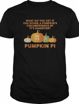 Halloween Pumpkin PI Funny Math Novelty shirt