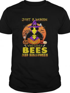 Just A Woman Who Loves Bees And Halloween shirt