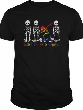 LGBT Skeleton Dare To Be Different shirt
