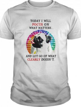 Pug Today I Will Focus On What Matters And Let Go Of What Clearly Doesnt Hippie Vintage Retro shirt