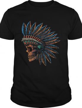 Skull Indian Side Position Day Of The Dead Retro Vintage shirt