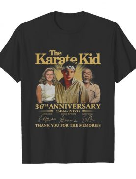 The Karate Kid 36th Anniversary 1984 2020 Thank You For The Memories Signature shirt