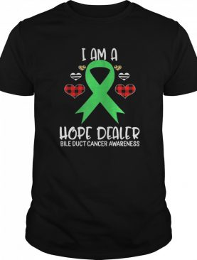 Bile Duct Cancer Awareness Ribbon I Am A Hope Dealer Leopard shirt