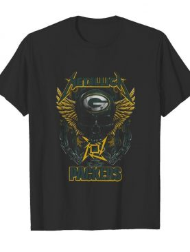 Metallica Band Skull Green Bay Packers shirt