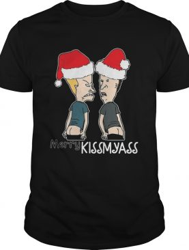 Christmas Cartoon Characters Naughty Merry kiss Ass shirt