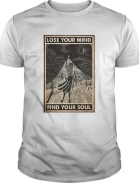Girl With Books Into The Forest Lose Your Mind Find Your Soul shirt