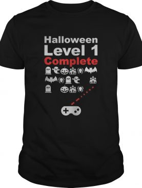 Halloween level 1 complete video gaming spooky scary shirt