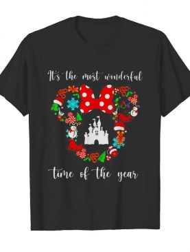 Merry Christmas Disney its the most wonderful time of the year shirt