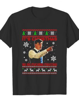 Peaky Blinders Thomas Shelby its Christmas so no fucking fighting ugly shirt