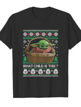 2020 What Child Is This Baby Yoda Funny Christmas shirt