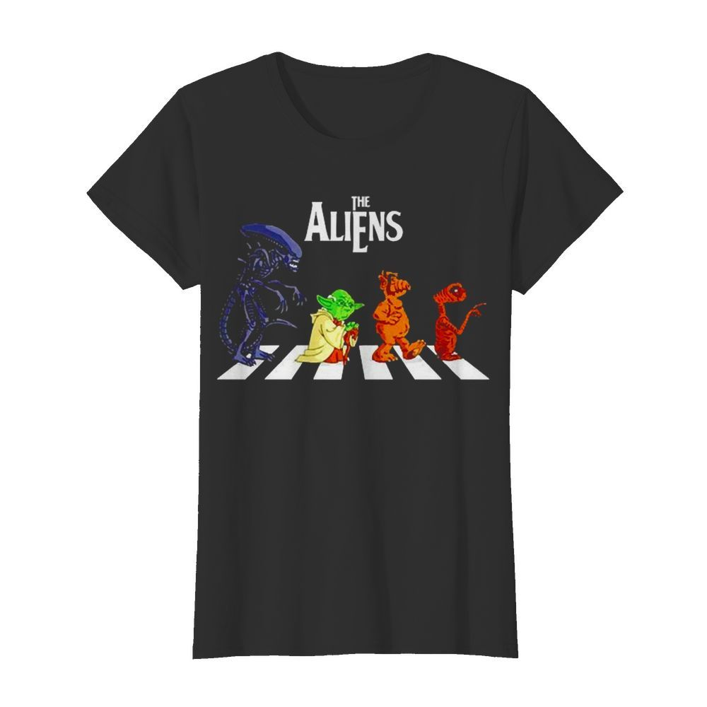 Abbey Road The Aliens Baby Yoda  Classic Women's T-shirt
