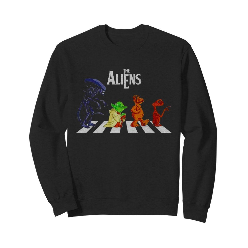 Abbey Road The Aliens Baby Yoda  Unisex Sweatshirt