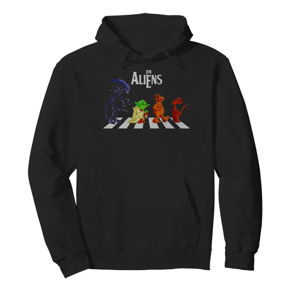 Abbey Road The Aliens Baby Yoda  Unisex Hoodie