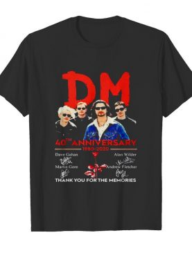 Depeche Mode 40th anniversary thank you for the memories signatures shirt