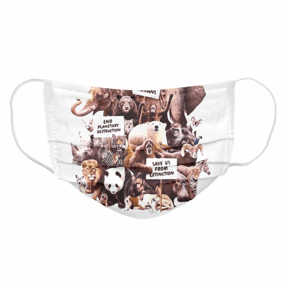 Dirty Velvet Animal Activists Graphic  Cloth Face Mask