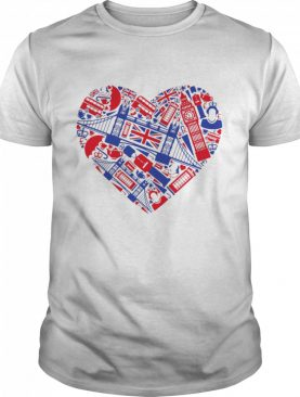 List Of British Symbols Composed In Love Sign shirt