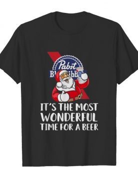 Pabst Blue Ribbon It's The Most Wonderful Time For A Beer shirt