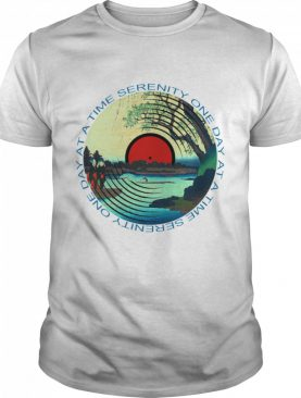 Sobriety Serenity One Day At A Time AA Sober tshirt