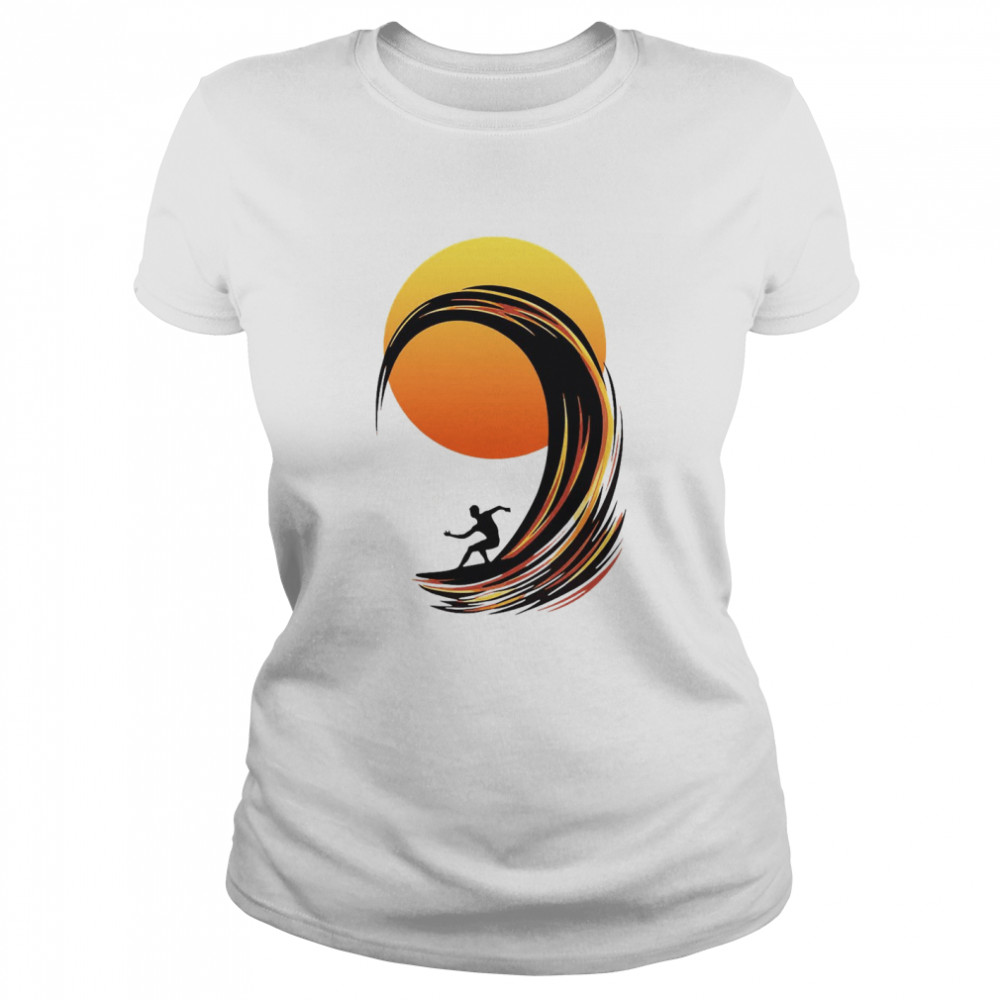Surfing At Sunrise  Classic Women's T-shirt