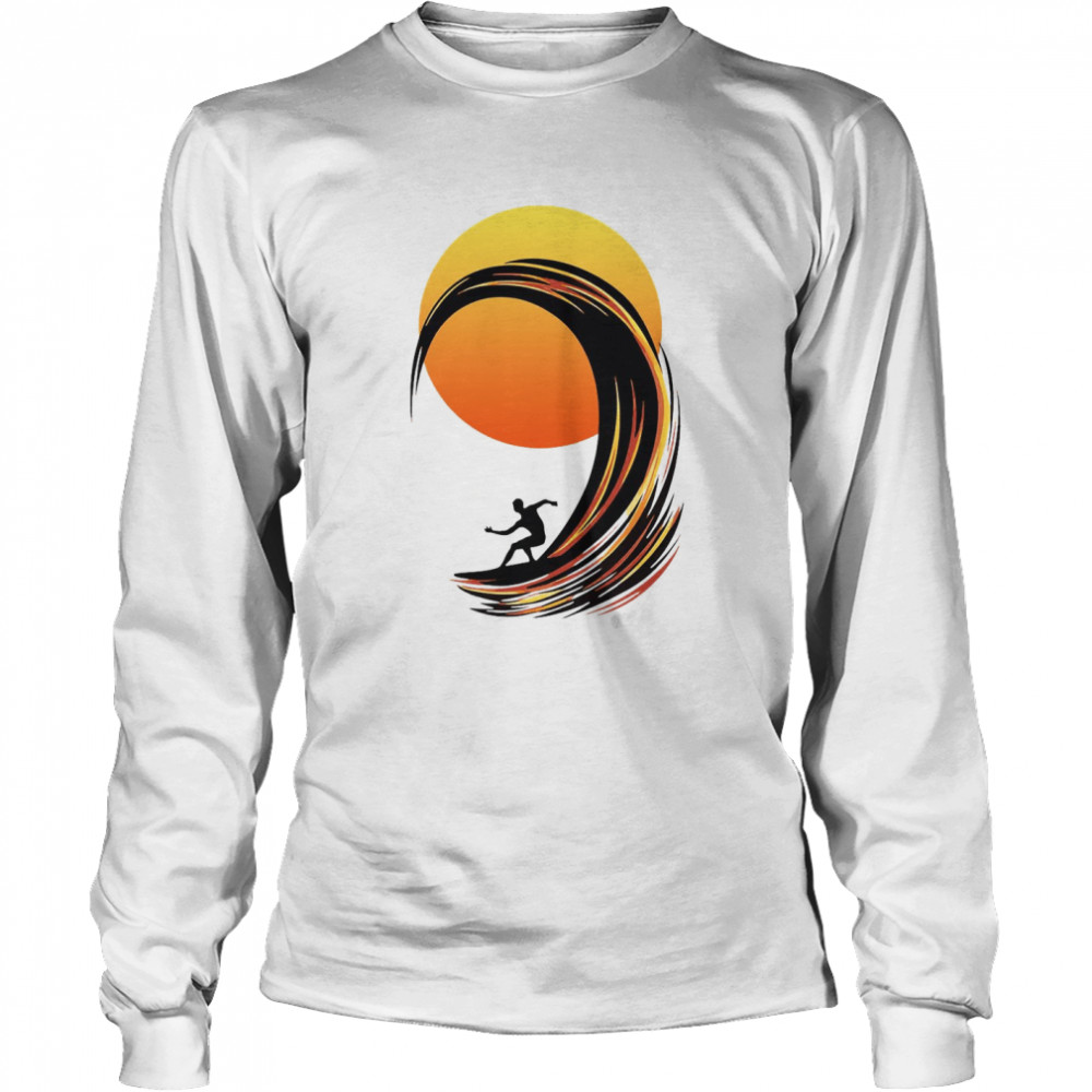 Surfing At Sunrise  Long Sleeved T-shirt