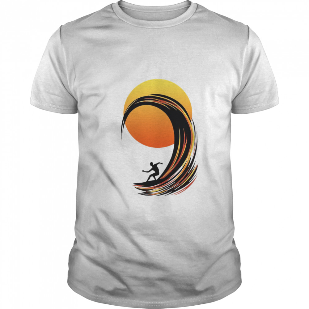 Surfing At Sunrise  Classic Men's T-shirt