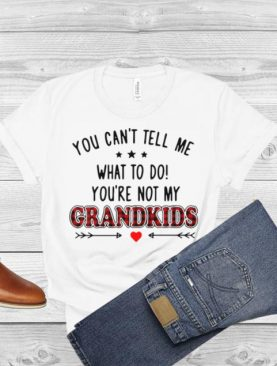 You Can't Tell Me What To Do You're Not My Great Grandkids Love Arrow T shirt